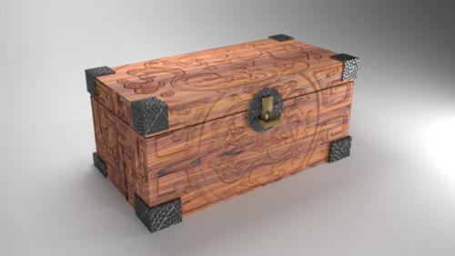 Cofre de madera de dragón