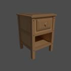 Lade houten bedzijde