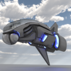Sci-fi Game Aircraft