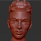Junge Mann-Gesichtsskulptur