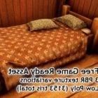 Cama vintage con almohadas