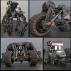Futuristisk cykelrobotman