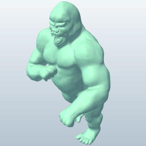 Vihainen jättiläinen Gorilla
