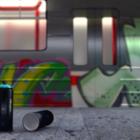Graffiti nástěnná scéna