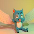 Happy Fairy Tail kreslená postavička