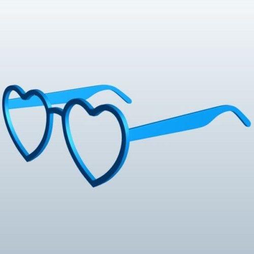 Gafas en forma de corazón