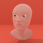 Menschliche männliche Gesichtsmaske