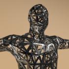 Trådskulptur af menneskelig krop