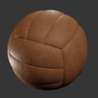 Ballon de volleyball en cuir
