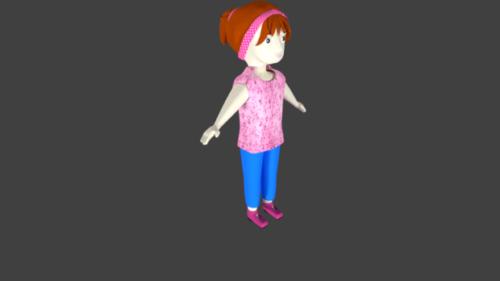 فتاة صغيرة شخصية للرسوم المتحركة