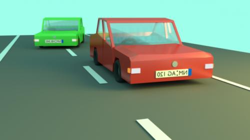 Lowpoly Pack de coches de dibujos animados