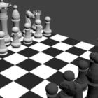 Skak sort hvidt bord