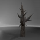 الشجرة الميتة الجافة