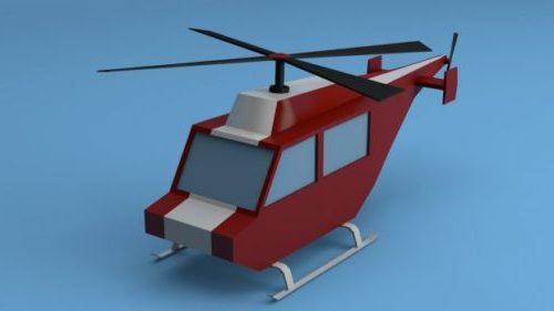 Lowpoly Sarjakuva helikopteri