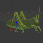 Grasshopper Lowpoly Rigged