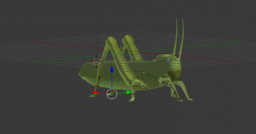 Saltamontes Lowpoly Rigged