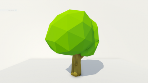 Lowpoly Poly-puu