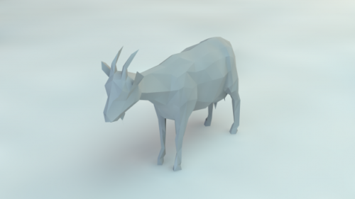 Lowpoly Vuohi