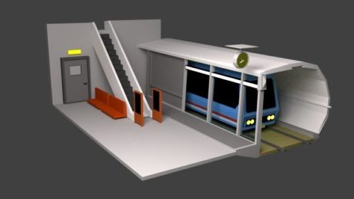 Train Station Lowpoly