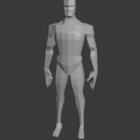 Lowpoly Male Body Rigged