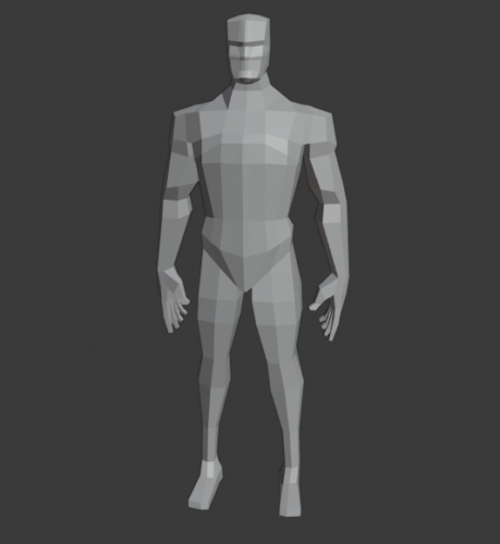 Lowpoly Cuerpo masculino Rigged