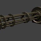 Rustikales Maschinengewehr