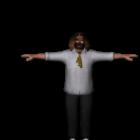 T-Pose-Charakter der Menschheit