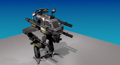 Robot mecánico de fantasía