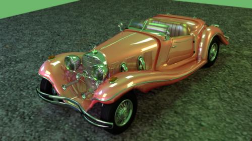 Coche Mercedes Roadster Vintage
