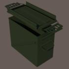 Militär metallkassettlåda