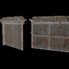 軍事金属フェンスゲート