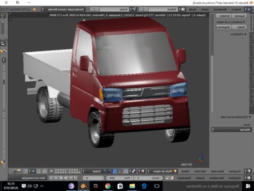 Red Paint Mini Truck Free 3d Model 3ds Blend Fbx Obj Open3dmodel 480394
