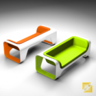 Canapé en plastique moderne