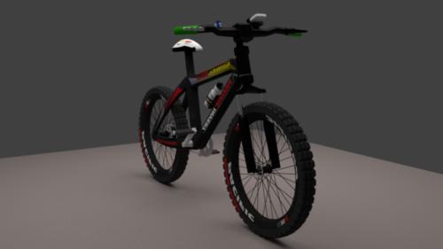 Musta maastopyörä