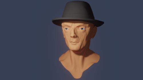 Mr.smith Agent Head Sculpture
