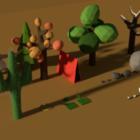 自然の木パック Lowpoly