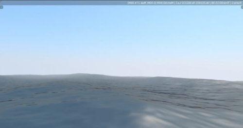 Ocean Wave Scene Animated