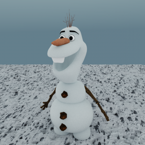 Olaf Snow Character