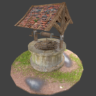 Old Well With Grass