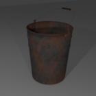 Vintage Rusty Metal Bucket