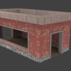 Ancien bâtiment d'entrepôt de briques
