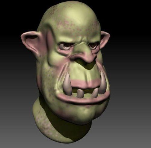 نحت رأس Orc