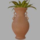 Växt i Terracotta Vase