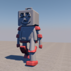 Plastic Square Head Robot