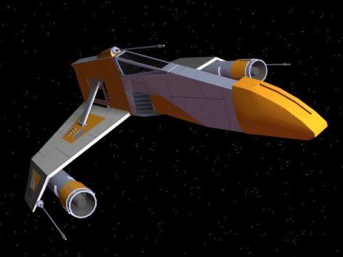 E-siipinen Starfighter-avaruusalus