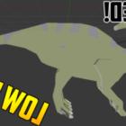 Parasaurolophus dinosaur Rigged
