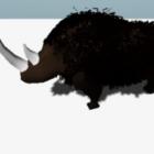 حيوان وحيد القرن الصوفي Rigged