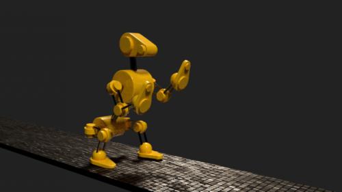 روبوت الكلب المتحركة