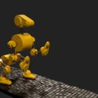 Robot Dog Rigged Animated