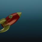 Rocket Cartoon Style